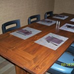 Reclaimed Heart Pine Private Dining Table