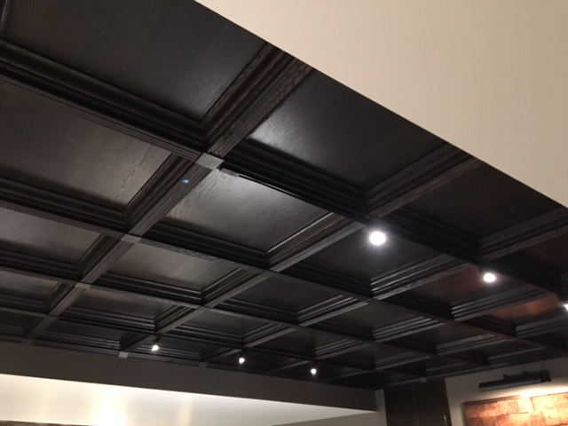 Classic Coffers Suspended Wood Ceiling Historic Timber And