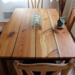 Heart Pine Table with Wenge accents
