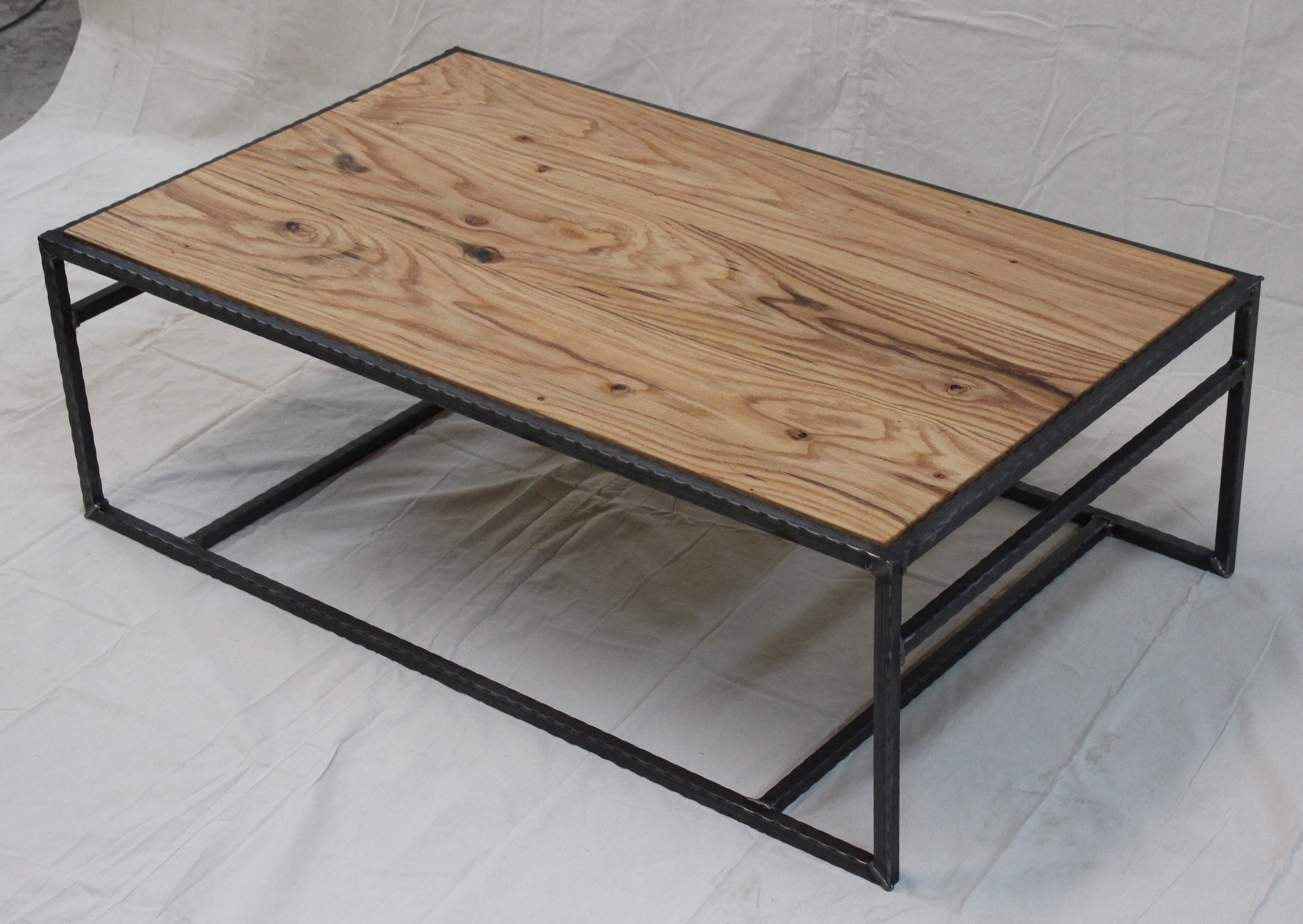 Wonderful image of reclaimed oak steel coffee table reclaimed oak 72 round dining with #7F664C color and 2911x2065 pixels