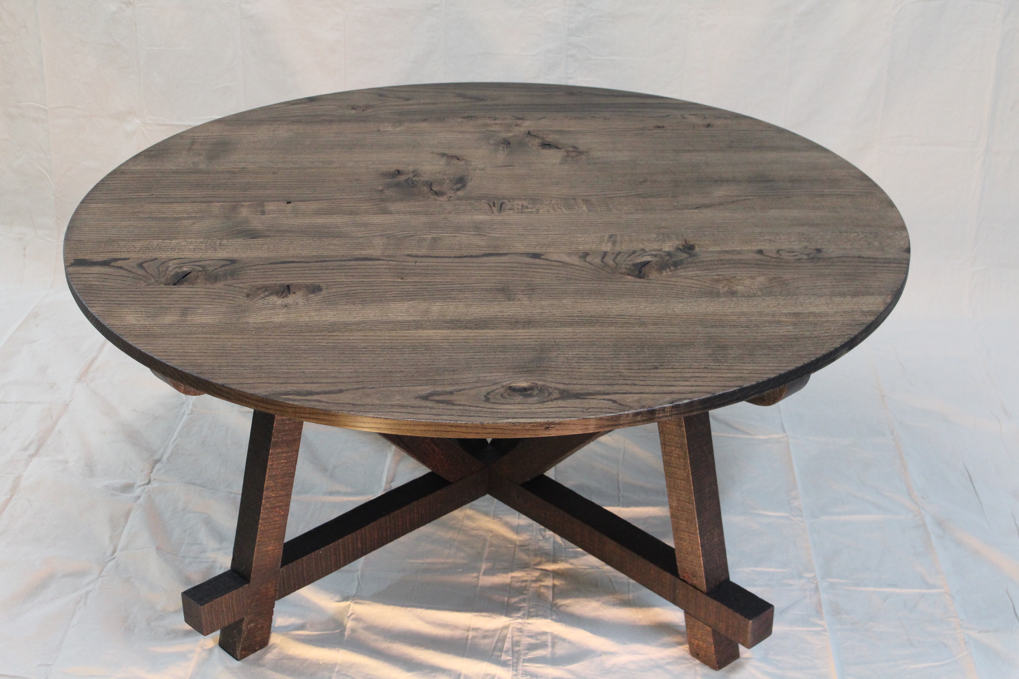 Wonderful image of reclaimed oak 72 round dining table reclaimed oak console table with #846147 color and 3456x2304 pixels