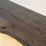 Live edge oak bar top black OSMO oil