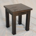 reclaimed oak end table