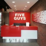 Five Guys Burgers and Fries Fry Wall