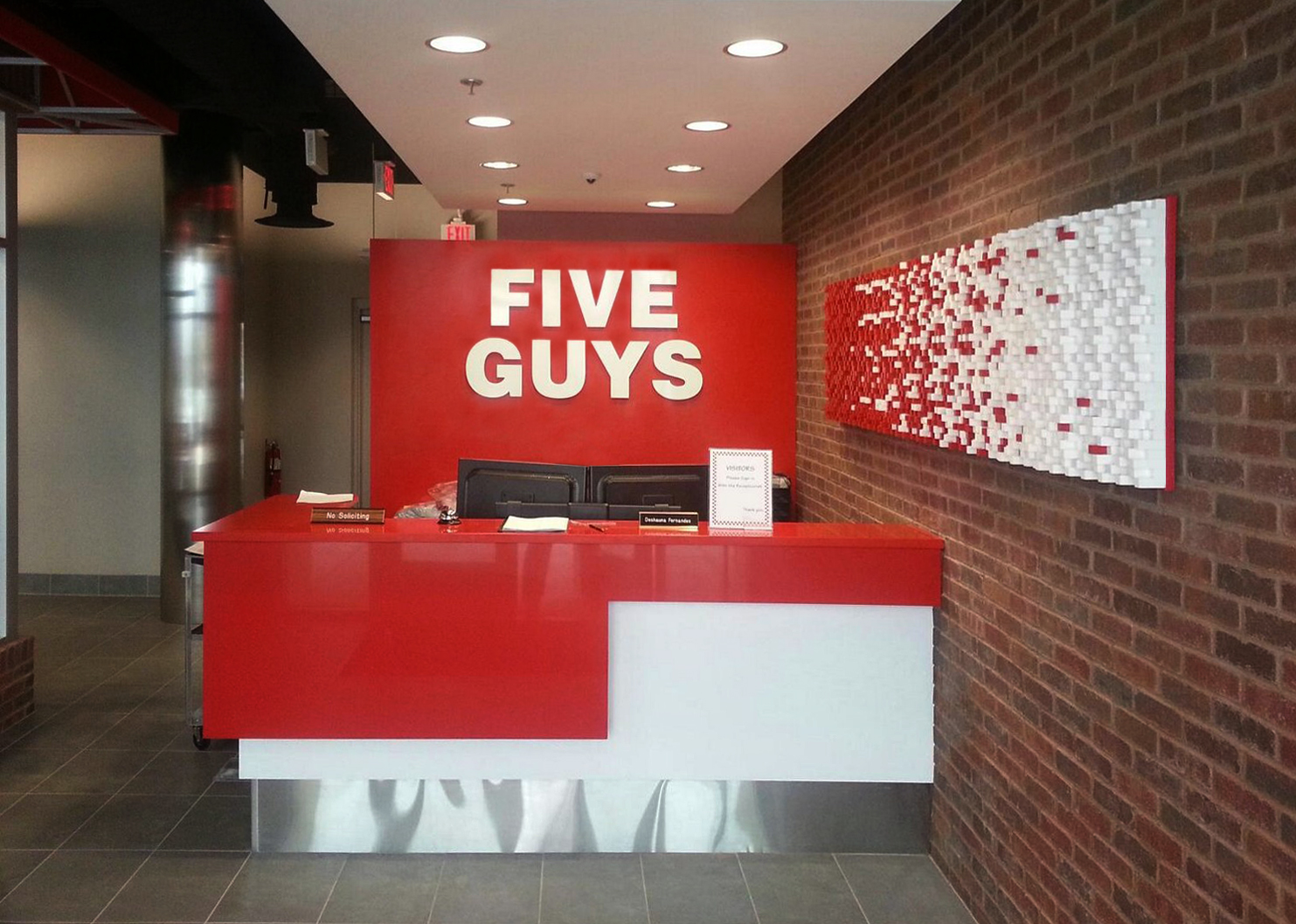 Five Guys Burgers and Fries Fry Wall Art