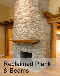 reclaimed beams and plank