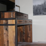 Reclaimed wood hostess stand