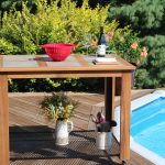 ipe decking patio table weather resistant