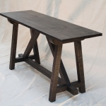 reclaimed oak console table black intensive OSMO oil