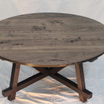 reclaimed oak dining table black intensive OSMO oil