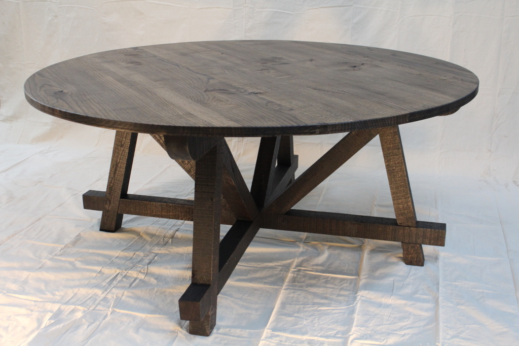 Reclaimed wood table OSMO black intensive oil