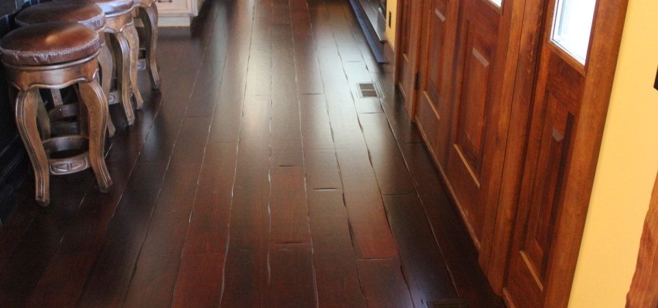 Thermo modified Hickory flooring – Residence St Louis, MO
