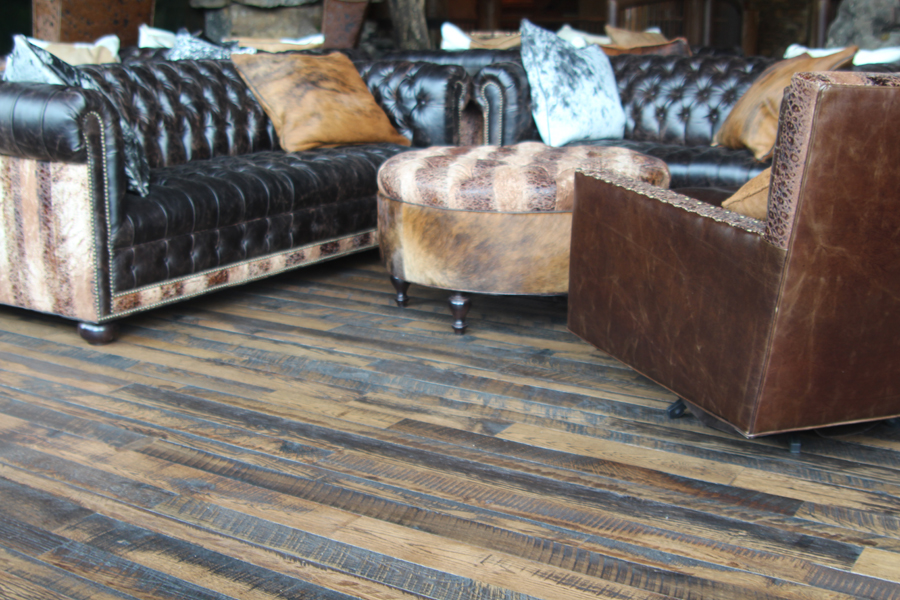 Reclaimed Skip Faced flooring – Residence