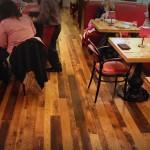 Labriola reclaimed plank floor