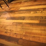 skip faced saw marks reclaimed hardwood plank floor