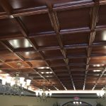 suspended wood ceiling