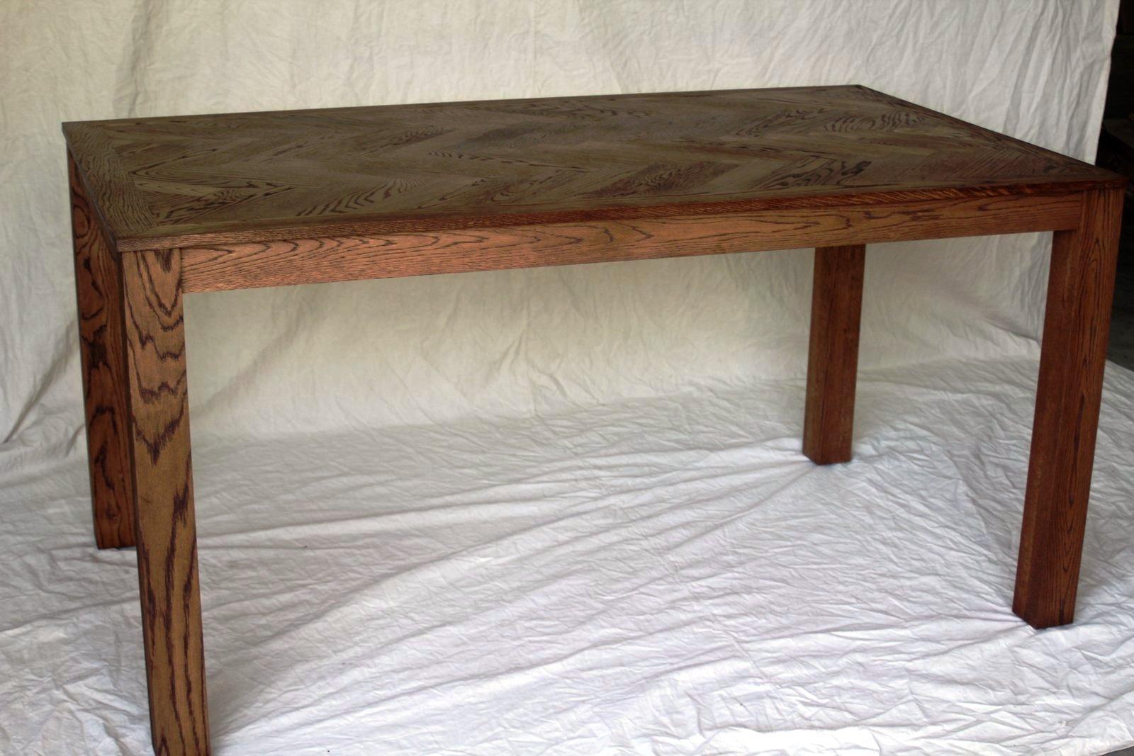 Custom Herringbone Table